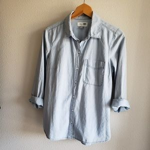 Like New Old Navy Chambray Button Down Shirt